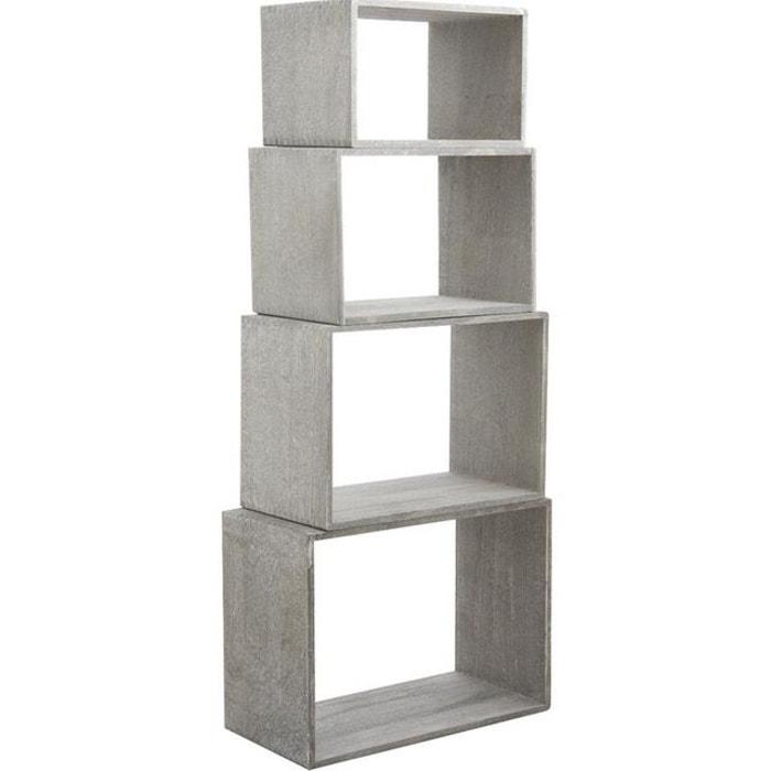 tag re murale cube gris aubry gaspard la redoute. Black Bedroom Furniture Sets. Home Design Ideas