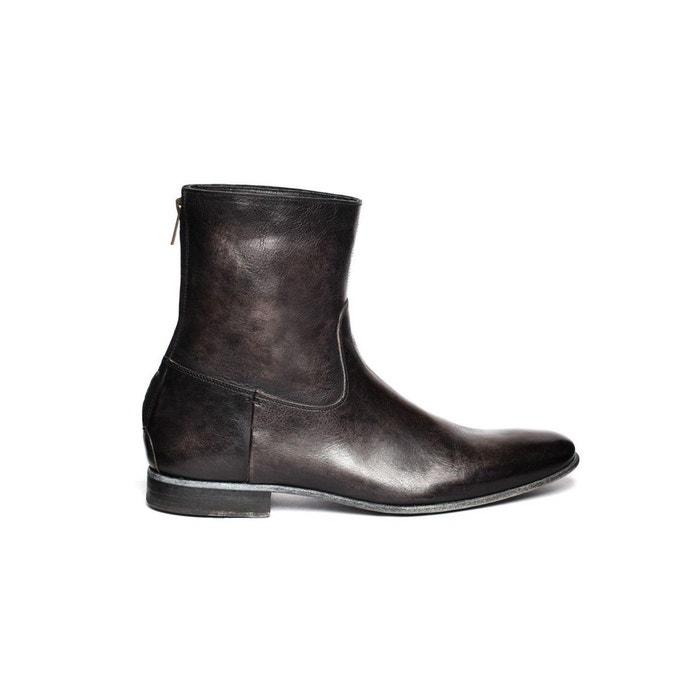 Boots en cuir vieilli MAC GILL Pete Sorensen en gris pour homme
