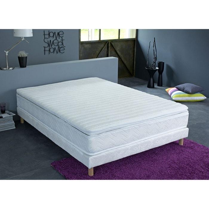 surmatelas de confort mousse m moire de forme blanc. Black Bedroom Furniture Sets. Home Design Ideas