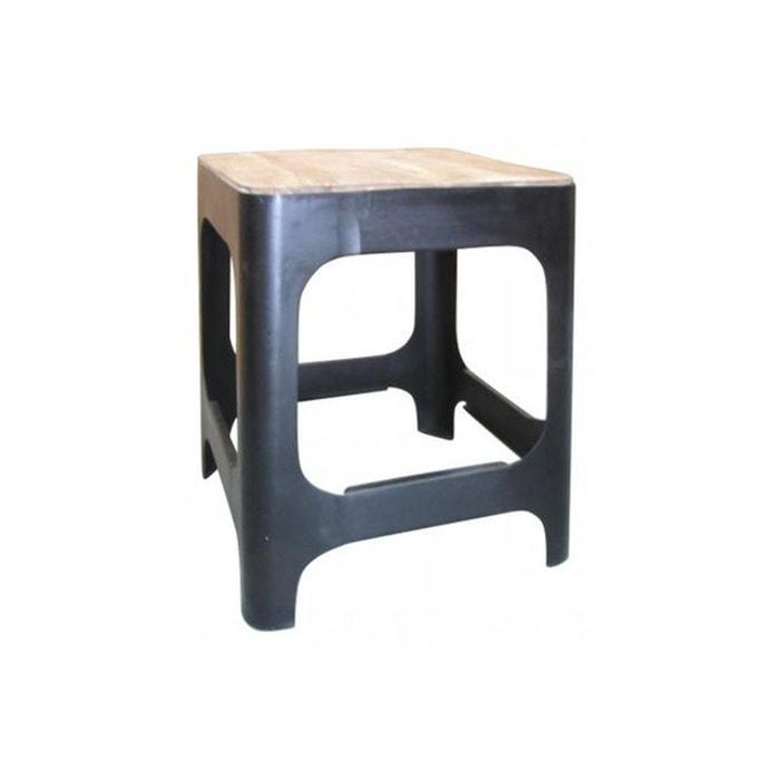 Table D 39 Appoint En Bois Et En M Tal H46 Carmina Couleur Unique Declikdeco La Redoute