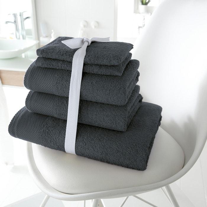 Imagen de Lote de 1 toalla de baño + 2 toallas de lavabo + 2 manoplas, de 420g/m2 SCENARIO