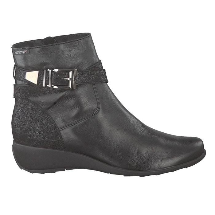 Boots stacy noir Mephisto Boutique Pas Cher HsgqLi5