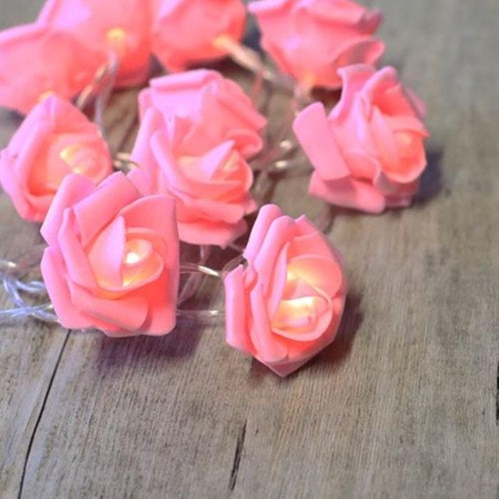 guirlande noel rose pale