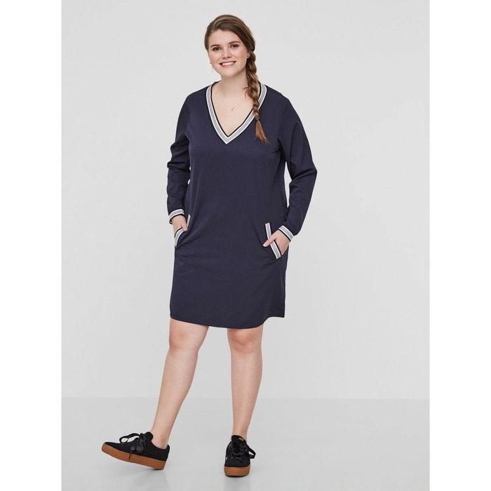 Tissé Textile Navy Blazer Bleu JunaroseLa Redoute Robe XTPZklOiwu