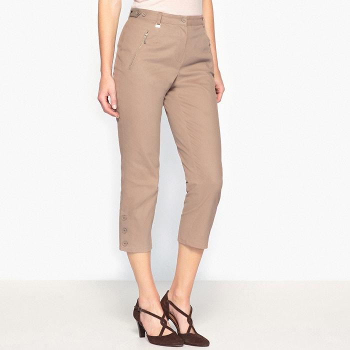 Pantaloni a pinocchietto, in satin di cotone stretch  ANNE WEYBURN image 0
