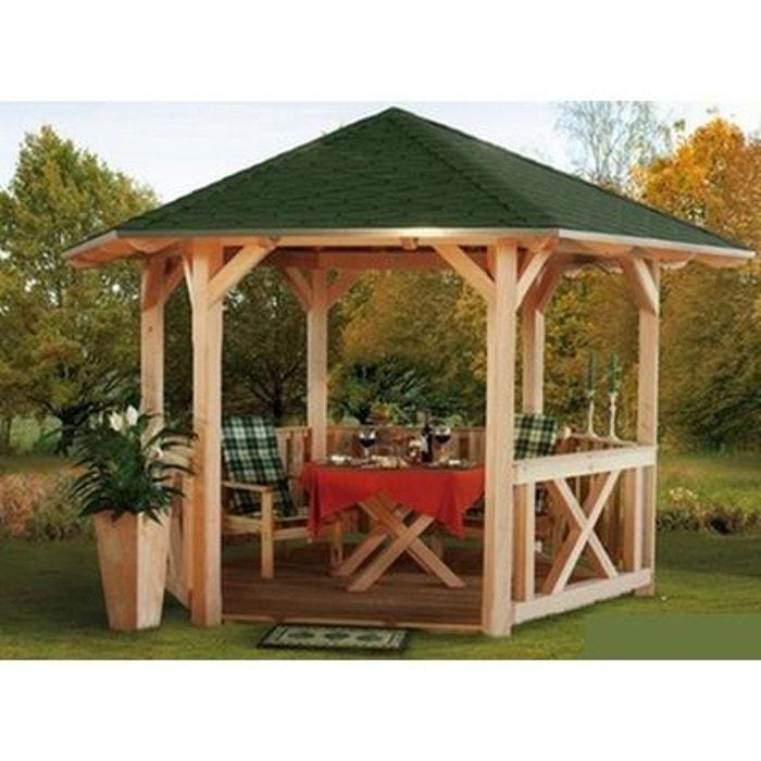 Pavillon de jardin en bois 480 cm colmar couleur unique lekingstore la redoute for Abri de jardin en bois la redoute