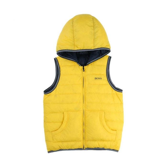 29ff578c60a Doudoune sans manches réversible cadet polyamide jaune Hugo Boss ...