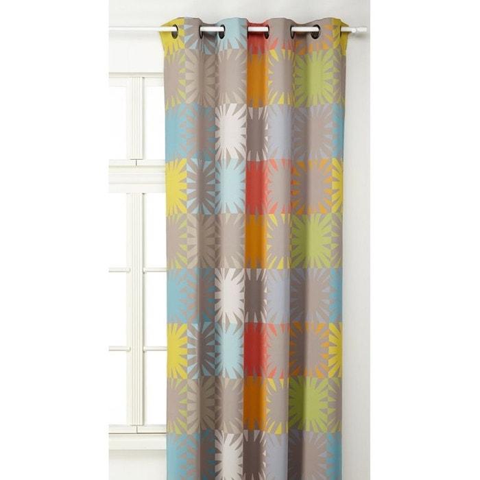 rideau multicolore grosses fleurs multicolore home. Black Bedroom Furniture Sets. Home Design Ideas