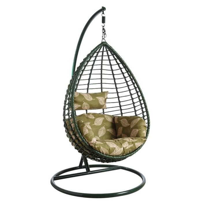 balancelle sur pied en polyr sine verte vert aubry gaspard la redoute. Black Bedroom Furniture Sets. Home Design Ideas