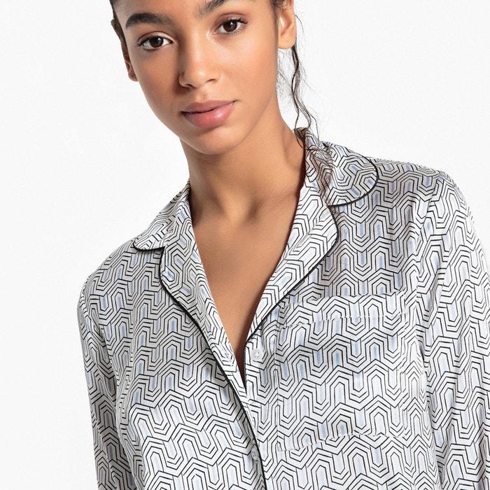 Redoute y Camisa con 233;trico cuello estampado sastre geom satinada La Collections Fx0Zdd