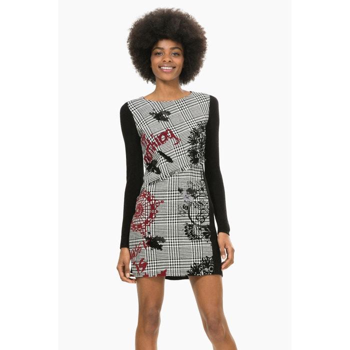 afbeelding Geruite rechte jurk, Vest Madrid DESIGUAL