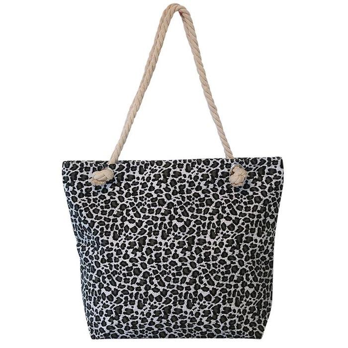 Grand sac de plage léopard