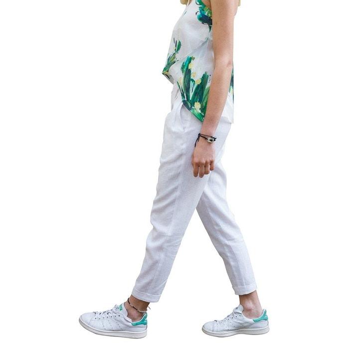 Pantalon chic pour femme décontractée en lin et coton chic et élégant  Sunday Life   La Redoute 46ea12fbe124