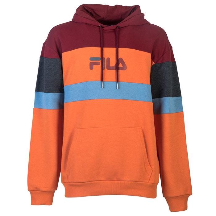 Sweat larry hooded sweat orange, bordeaux, gris Fila   La Redoute 014d93e811cf