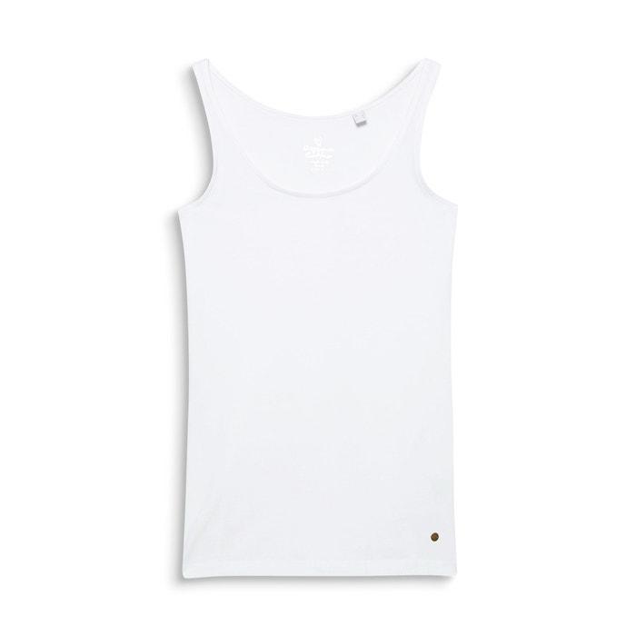 mangas Camiseta lisa sin ESPRIT de redondo cuello gRtqgPB1