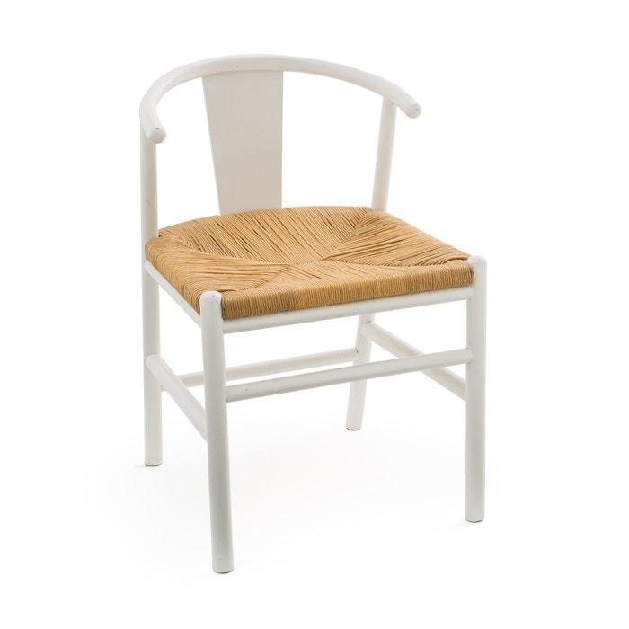 Kirsti Scandi Style Birch Chair With Woven Seat White Am Pm La Redoute
