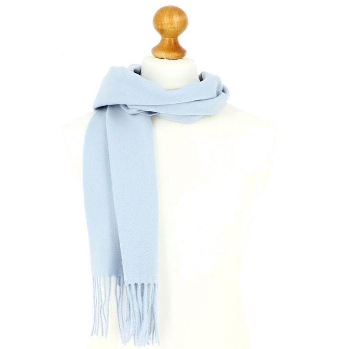 Echarpe bleu ciel luxe unie en laine d Australie, 37x180cm TONY ET PAUL  image 3229322424a