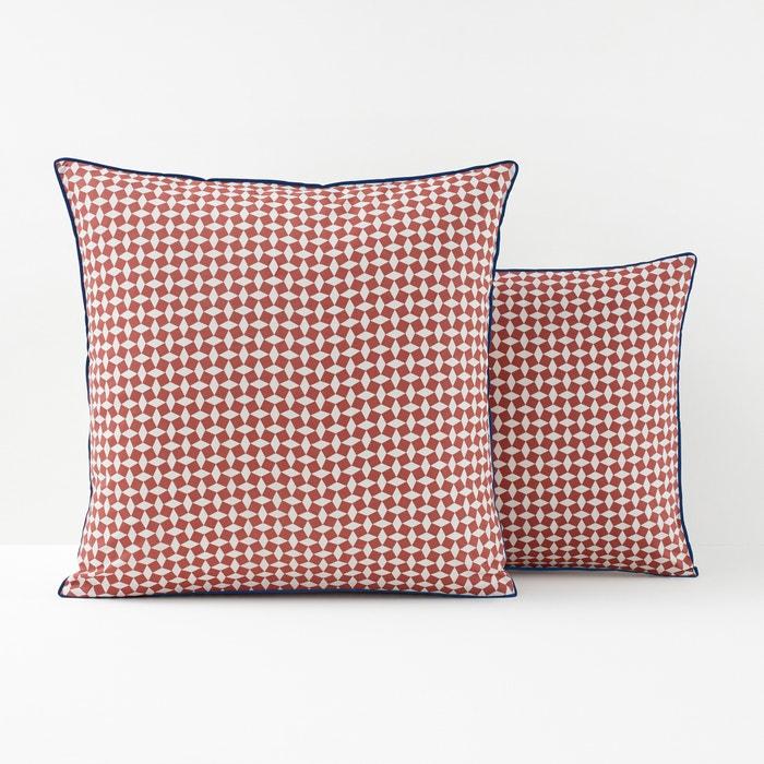 Image Taie d'oreiller percale de coton, Cravate rose La Redoute Interieurs