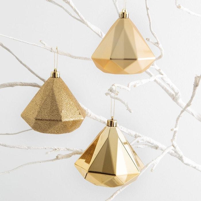Boules de Noël, DIAMANT (lot de 3)  La Redoute Interieurs image 0