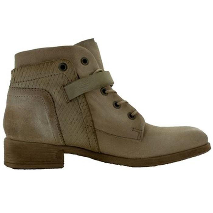 Bottines / boots cuir beige Mjus Magasin De Dédouanement Rabais b2jiuEM6