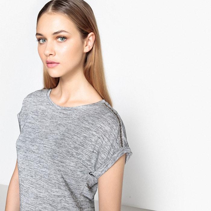 afbeelding T-shirt met sierjuweel La Redoute Collections