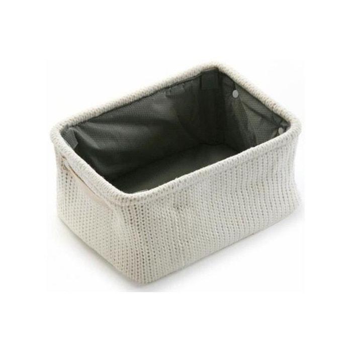 panier en tissu blanc vigo couleur unique declikdeco la. Black Bedroom Furniture Sets. Home Design Ideas