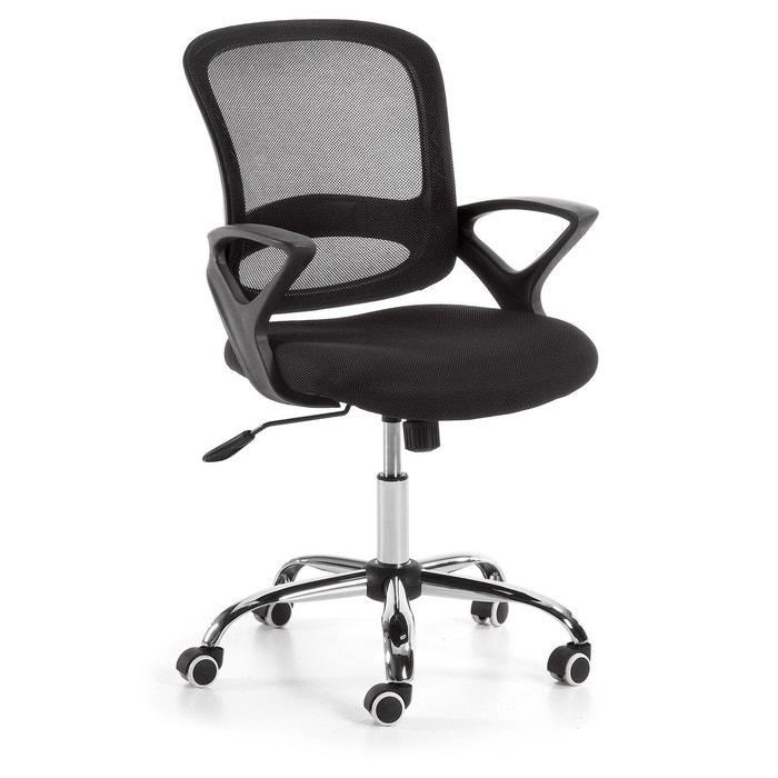 Chaise bureau tangier gris kavehome la redoute for Chaise kavehome