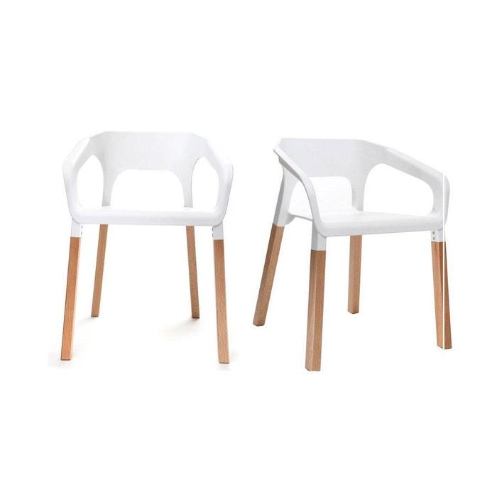 Chaises Design Scandinave Lot De 2 Helia Miliboo