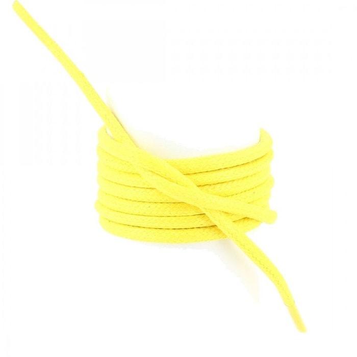 Lacets ronds coton ciré couleur jaune canari  jaune Les Lacets Francais  La Redoute
