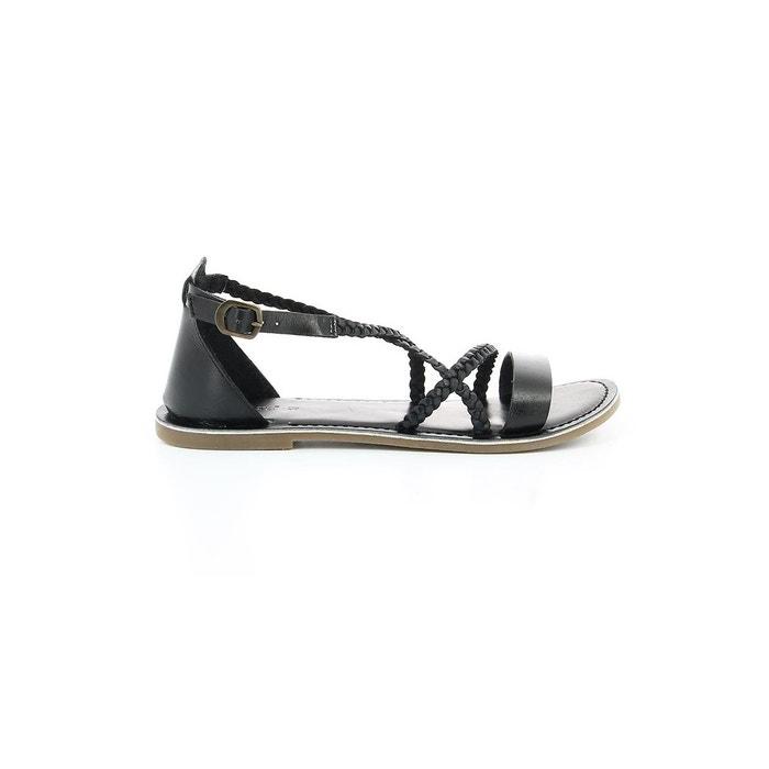 Sandales cuir femme divague noir Kickers