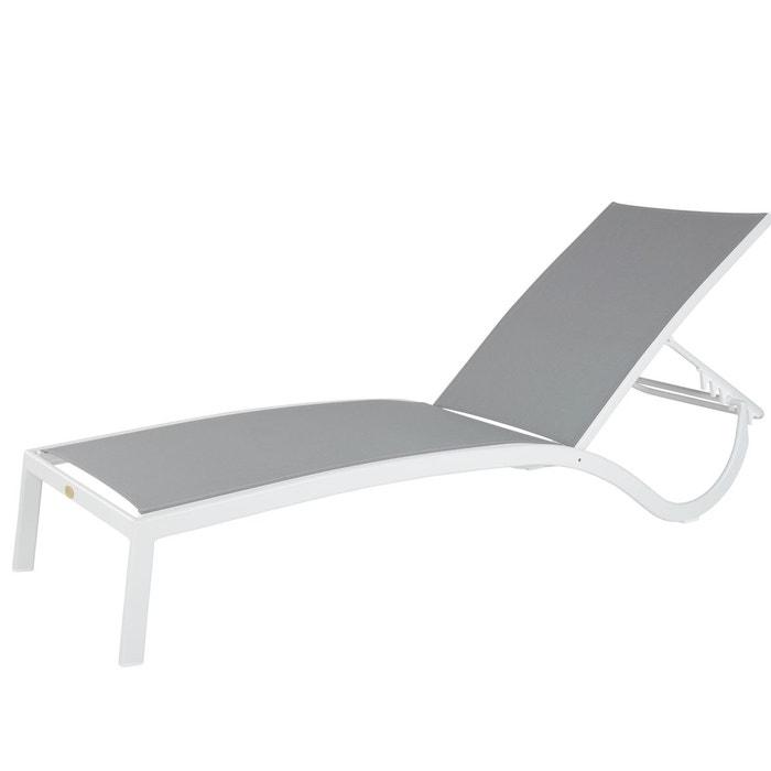 bain de soleil derby gris en toile pvc gris rotin design la redoute. Black Bedroom Furniture Sets. Home Design Ideas