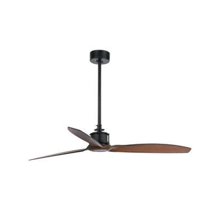 ventilateur de plafond noir et bois just fan faro. Black Bedroom Furniture Sets. Home Design Ideas