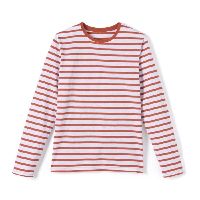 Imagen de Camiseta a rayas de manga larga con el cuello redondo R essentiel