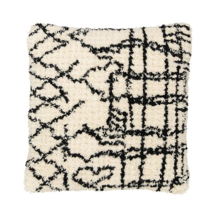 housse de coussin style berb re noraan noir cru am pm la redoute. Black Bedroom Furniture Sets. Home Design Ideas
