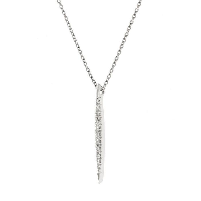 Collier argent 925 millièmes rhodié avec pendentif tige & diamants blanc Nova Diamonds | La Redoute Emplacements De Magasin De Sortie 2ONCwv