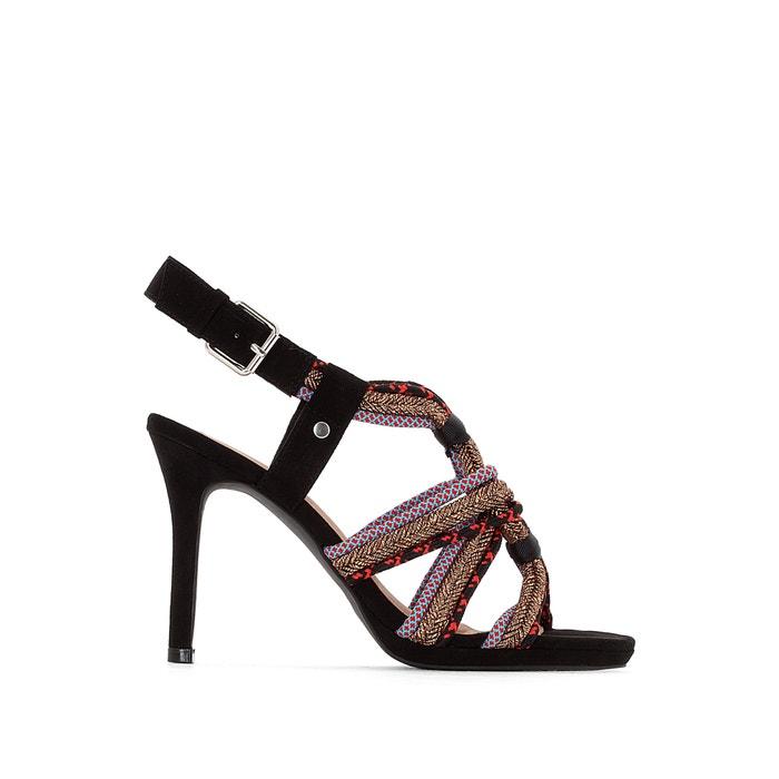 Sandalen met koord bandjes  La Redoute Collections image 0
