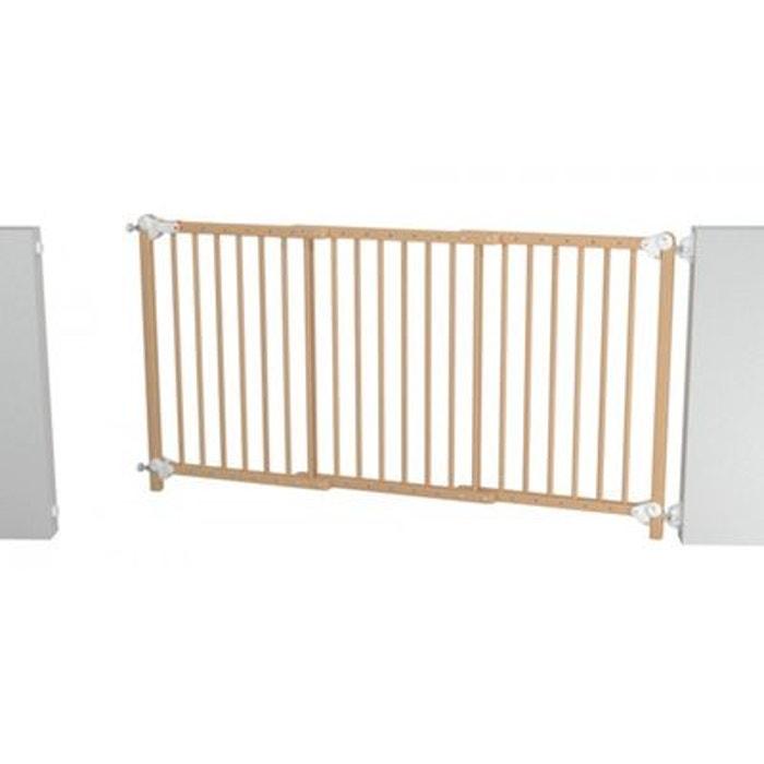 barri re de s curit extensible baby fox portillon amovible bois h tre vernis 70 x 152 cm bois. Black Bedroom Furniture Sets. Home Design Ideas