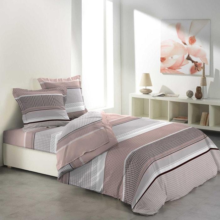 parure de drap 2 taies d 39 oreiller modele kitoe rose douceur d 39 int rieur la redoute. Black Bedroom Furniture Sets. Home Design Ideas