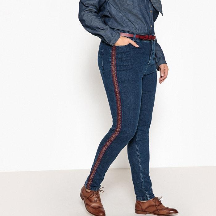 Jeans slim gambe con ricami laterali  CASTALUNA image 0