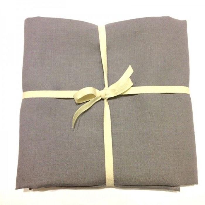 coupon de tissu de lin 3 m tres col mistigris gris la. Black Bedroom Furniture Sets. Home Design Ideas