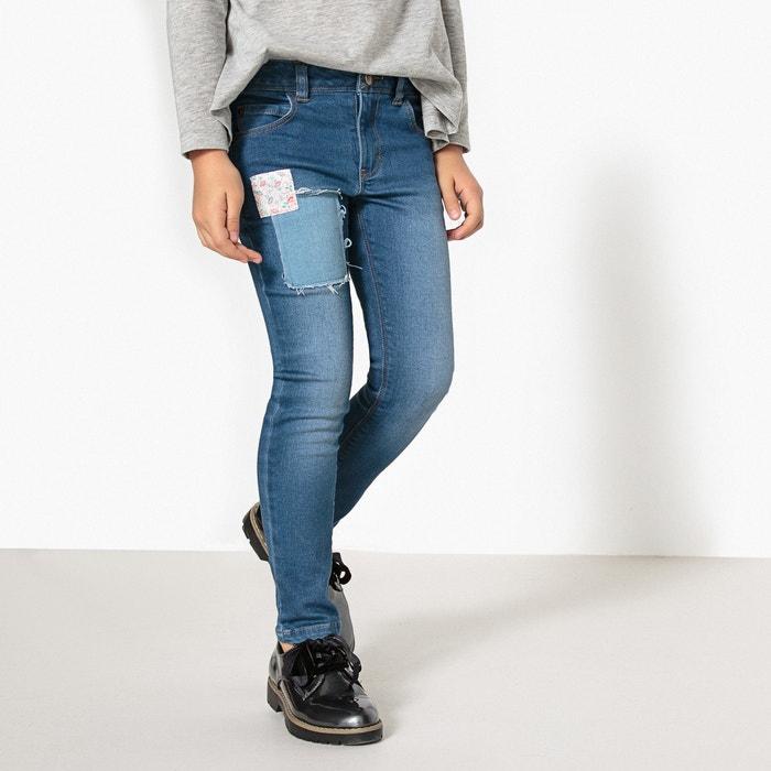 Jeans dritti con patch 3-12 anni  La Redoute Collections image 0