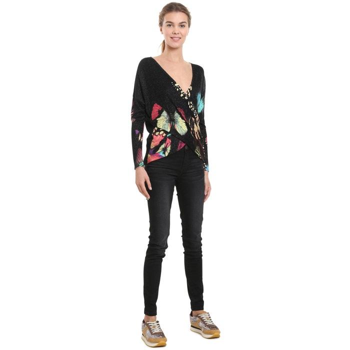 Пуловер с запахом и цветочным рисунком  DESIGUAL image 0
