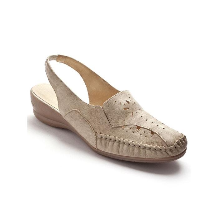 Sandales ajourées, talon 4cm Pediconfort