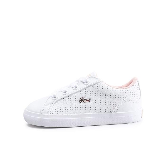 904328ce24a Basket basse lerond blanc rose Lacoste
