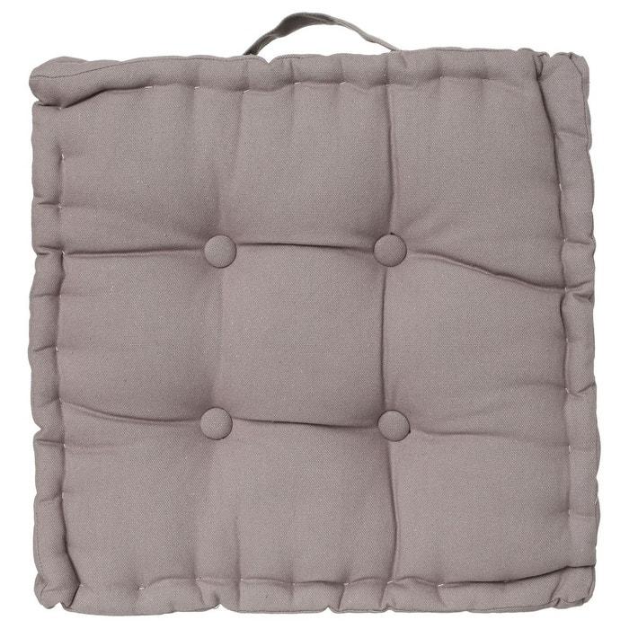 coussin de sol 40 x 40 cm gris atmosphera la redoute. Black Bedroom Furniture Sets. Home Design Ideas