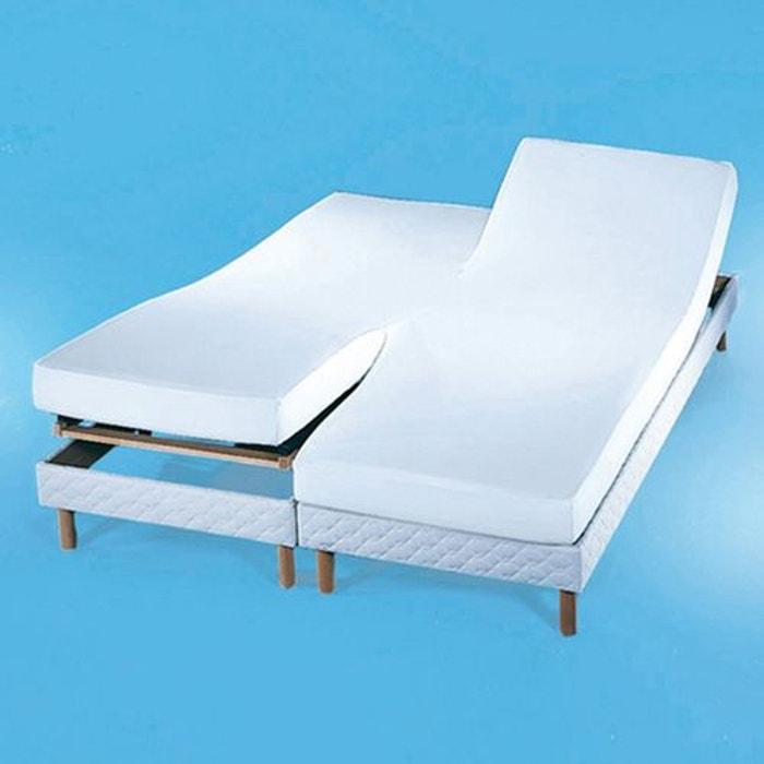 housse en molleton pour matelas accol s enduit pv blanc. Black Bedroom Furniture Sets. Home Design Ideas