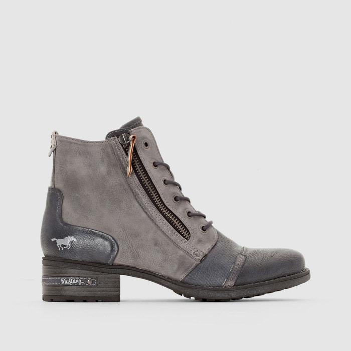 Achats En Ligne Bottines à lacets gris Mustang Shoes Réel Frais De Port Offerts Pas Cher Prix Pas Cher Finishline Escompte Bonne Vente 82e6q0