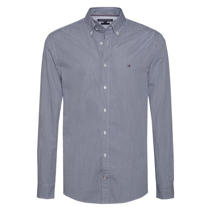 Rayas Camisa Con A Corte 100Algodón Recto 4AqRL3j5