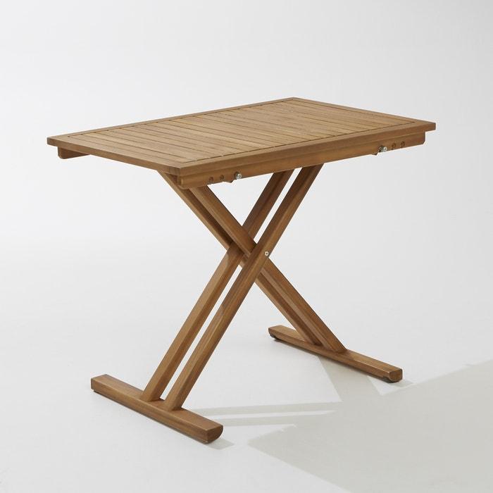 Table de jardin pliante en acacia et finition teck, teko La Redoute ...