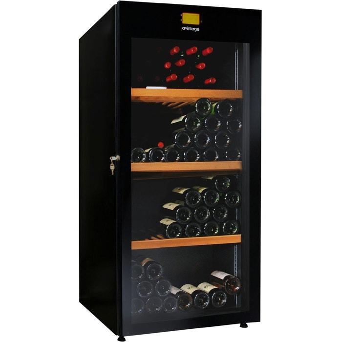 cave vin de vieillissement 1 temp 178 bouteilles noir aci avi431 couleur unique. Black Bedroom Furniture Sets. Home Design Ideas